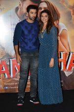 Deepika Padukone, Ranbir Kapoor at Tamasha trailor launch in Mumbai on 22nd Sept 2015 (107)_5602a7672b31d.JPG