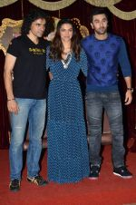 Deepika Padukone, Ranbir Kapoor, Imtiaz Ali at Tamasha trailor launch in Mumbai on 22nd Sept 2015