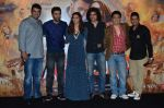 Deepika Padukone, Ranbir Kapoor, Siddharth roy kapur, Imtiaz Ali, Sajid Nadiadwala, Bhushan Kumar at Tamasha trailor launch in Mumbai on 22nd Sept 2015
