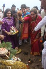 Dimple kapadia and twinkle_s ganpati visarjan on 22nd Sept 2015 (102)_5602610c0a2d8.JPG