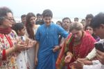 Dimple kapadia and twinkle_s ganpati visarjan on 22nd Sept 2015 (88)_5602613606f1b.JPG