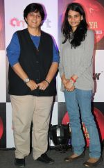 Aditi Thackeray (Daughter in Law of Smita Thackeray) with Falguni Pathak at the Press announcement of _Dubai Dandiya Festival 2015_ at La Ruche, Bandra_5603a2a8b6baf.JPG