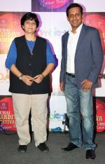 Kapil Pathare (of VIP) with Falguni Pathak at the Press announcement of _Dubai Dandiya Festival 2015_ at La Ruche, Bandra_5603a2c3f0396.JPG
