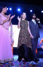 Akshay Kumar, Amy Jackson, Lara Dutta at Singh is Bling promotions in Delhi on 27th Sept 2015