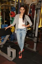 Miss India Gail Nicole Da Silva at the Muscle Talk Gymnasium launch in Chembur.2