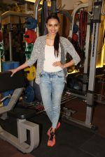 Miss India Gail Nicole Da Silva at the Muscle Talk Gymnasium launch in Chembur