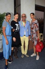 Carol Gracias, Sucheta Sharma, Narendra Kumar Ahmed on day 1 of Amazon india fashion week on 7th Oct 2015,1
