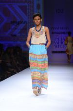 Model walk the ramp for Tanvi Kedia show on day 2 of Amazon india fashion week on 8th Oct 2015