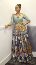 Neha Dhupia at Fashion Week in London on 12th Oct 2015