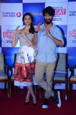 Alia Bhatt, Shahid Kapoor promote Shaandaar movie on 12th Oct 2015