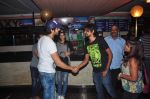 Kartik Aryan of Pyar Ka Panchnama 2 greets fans after the great resonse for the film in Gaiety on 18th Oct 2015