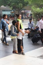 Ram Kapoor with wife and Kids snapped at airport on 18th Oct 2015