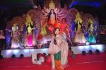 Sharbani Mukherjee on day 1 of durga pooja in Juhu, Mumbai on 18th Oct 2015