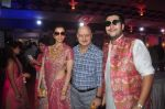 Anupam Kher, Bappa Lahiri at Durga Pooja Pandal on 20th Oct 2015