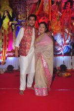 Bappa Lahiri at Durga Pooja Pandal on 20th Oct 2015