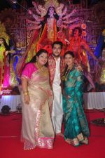 Sharbani Mukherjee, Bappa Lahiri at Durga Pooja Pandal on 20th Oct 2015
