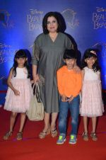 Farah Khan at Beauty and the Beast red carpet in Mumbai on 21st Oct 2015