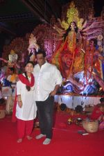 Sharbani Mukherjee, Anurag Basu at North Bombay Sarbojanin Durga Puja 2015 on 22nd Oct 2015