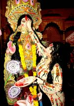 Misti Mukerjee went for sindoor khela at Bangur Nagar Sarvjanik Durga Puja on 23rd Oct 2015 (3)_562cc1d076ddc.jpg