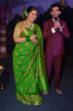 Arjun Bijlani,Sudha Chandran at Naagin launch for Colors in Powai on 26th Oct 2015