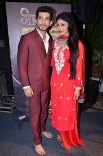 Mouni Roy, Arjun Bijlani at Naagin launch for Colors in Powai on 26th Oct 2015