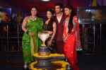 Mouni Roy, Arjun Bijlani, Adaa Khan, Sudha Chandran at Naagin launch for Colors in Powai on 26th Oct 2015