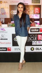 Miss India Gail D�silva at the launch of the _Femina To Your Rescue_ app at Police Gymkhana, Mumbai_5630946258c1e.jpg