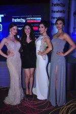 Elli Avram, Manjari Phadnis, Sophie Choudry, Daisy Shah at Exhibit Awards in Mumbai on 28th Oct 2015