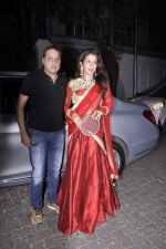Krishika Lulla at Karva chauth celebrations at Anil Kapoors residence on 30th Oct 2015