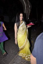 Padmini Kolhapure at Karva chauth celebrations at Anil Kapoors residence on 30th Oct 2015