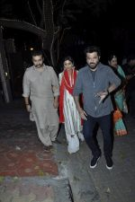 Shilpa Shetty, Raj Kundra, Anil Kapoor at Karva chauth celebrations at Anil Kapoors residence on 30th Oct 2015