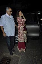 Sridevi, Boney Kapoor at Karva chauth celebrations at Anil Kapoors residence on 30th Oct 2015