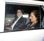 K P S Gill at Geeta Basra and Harbhajan Singh
