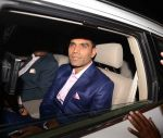 Munaf patel at Geeta Basra and Harbhajan Singh