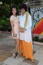 Nisha Rawal, Rohit Verma celebrate diwali with kids on 13th Nov 2015 (13)_5648117183225.JPG