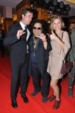 Egor Koreshkov, Bappi Lahiri and Arina Borisova at the Russian Film Days inauguration at Osianama in Liberty Cinema