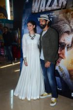 Aditi Rao Hydari, Farhan Akhtar at Wazir trailor launch on 17th Nov 2015