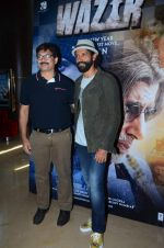 Farhan Akhtar at Wazir trailor launch on 17th Nov 2015