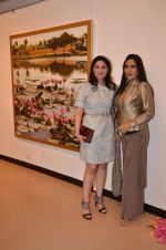 Aarti Surendranath at art exhibition launch with Bindu Kapoor of Yes Bank on 18th Nov 2015