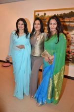 Kiran Juneja, Aarti Surendranath, Poonam Dhillon  at art exhibition launch with Bindu Kapoor of Yes Bank on 18th Nov 2015