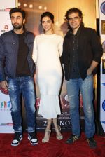 Deepika Padukone, Ranbir Kapoor, Imtiaz Ali in Delhi to promote Tamasha on 24th Nov 2015