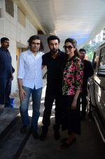 Ranbir Kapoor, Deepika Padukone and Imtiaz Ali at Tamasha screening for critics on 27th Nov 2015