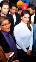 sunny leone come to CP during the distribution gifit to under privileged society in new delhi on 28th Nov 2015