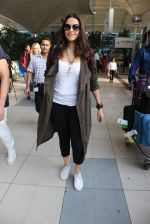 Neha Dhupia snapped at airport on 2nd Dec 2015