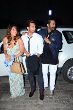 Karan Singh Grover, Rocky S and Bipasha Basu snapped at PVR on 4th Dec 2015