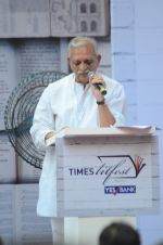 Gulzar at Times Litfest at Mehboob studios on 5th Dec 2015