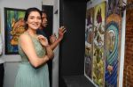 TINA AHUJA INAUGURATING AN ART EXHIBITION CONTRARIO OF ARTISTS on 11th Dec 2015