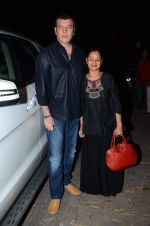 Aditya Pancholi, Zarina Wahab at Bajirao Mastani screening in Sunny Super Sound on 17th Dec 2015