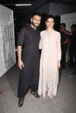 Deepika Padukone, Ranveer Singh at Bajirao Mastani screening in Sunny Super Sound on 17th Dec 2015