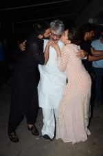 Deepika Padukone, Ranveer Singh, Sanjay Leela Bhansali at Bajirao Mastani screening in Sunny Super Sound on 17th Dec 2015